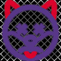 Dog Sad Death Emoji Icon