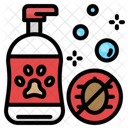 Dog Shampoo Colored Outline Icon