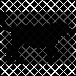 Dog Walking Glyph Icon