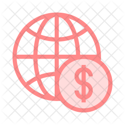 Dollar Colored Outline Icon