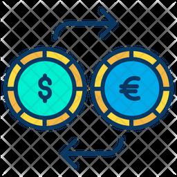 Dollar And Euro Exchange Icon