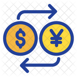 Dollar And Yen Exchange Icon