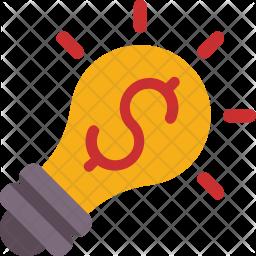 Dollar bulb Icon