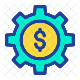Dollar Cog Icon