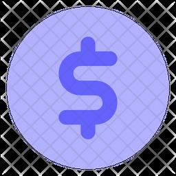 Dollar-coin Flat Icon
