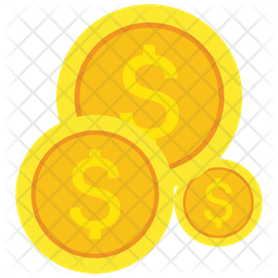 Dollar Coins Icon Of Flat Style Available In Svg Png Eps Ai Icon Fonts