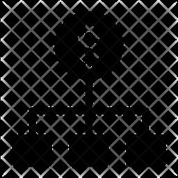 Dollar Flow Glyph Icon