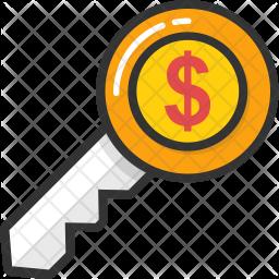 Dollar Key Icon