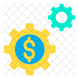 Dollar Setting Wheel Icon