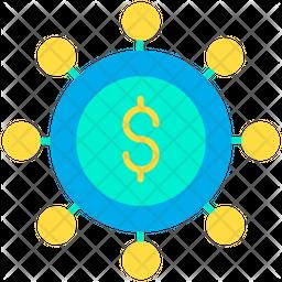 Dollar spending Icon