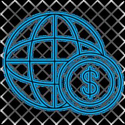 Dollar World Icon