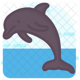Dolphin Icon Of Colored Outline Style Available In Svg Png Eps Ai Icon Fonts