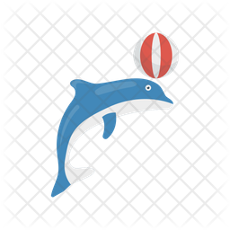 Dolphin Circus Icon Of Flat Style Available In Svg Png Eps Ai Icon Fonts