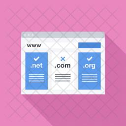Domain, Registration, Seo, Business, Startup, Marketing, Optimization Icon