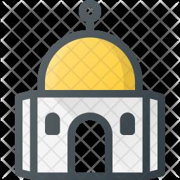 Dome Colored Outline Icon