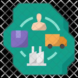 Domestic supply chain Icon