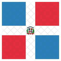 Dominican Flag Icon