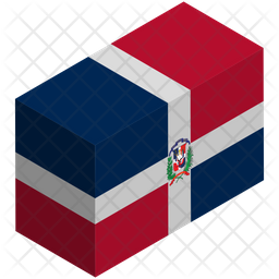 Dominican Republic Isometric  Flag Icon