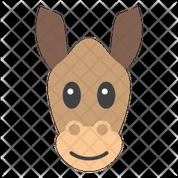 Donkey Face Emoji Icon