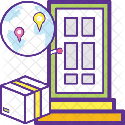 Door to Door Delivery Icon