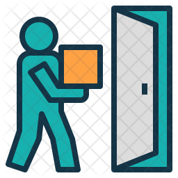 Door To Door Delivery Icon Of Colored Outline Style Available In Svg Png Eps Ai Icon Fonts