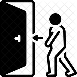Doorway Glyph Icon