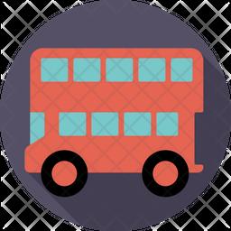 Double-Decker Bus Icon