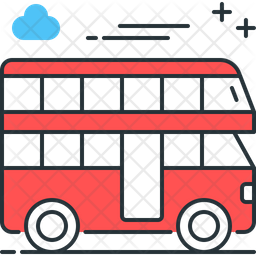 Double Decker Bus Icon Of Colored Outline Style Available In Svg Png Eps Ai Icon Fonts