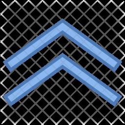 Double up arrow Icon
