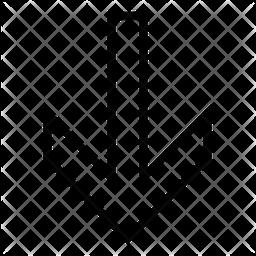Down Arrow Line Icon