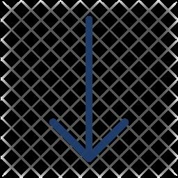 Down Arrow Logo Icon