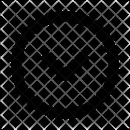 Down Chevron Line Icon