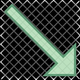 Down right arrow Icon