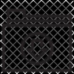 Download Folder Line Icon