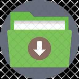 Download folder Flat Icon