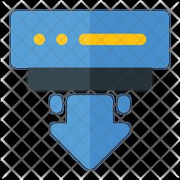 Downloading Big Data Icon