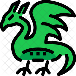 Dragon Icon Of Colored Outline Style Available In Svg Png Eps Ai Icon Fonts