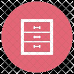 Drawer Glyph Icon