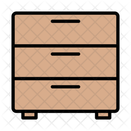 Drawer Colored Outline Icon