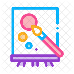 Drawing Board Colored Outline Icon