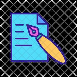 Drawing Copywriting Icon