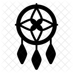 Dreamcatcher Glyph Icon