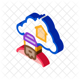 Dreaming About Home Isometric Icon