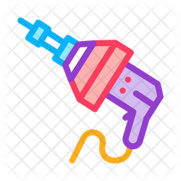 Drill Drain Snake Icon