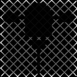 Drillpress Glyph Icon