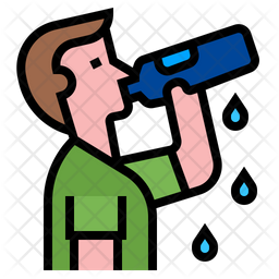 Drink Water Icon Of Colored Outline Style Available In Svg Png Eps Ai Icon Fonts