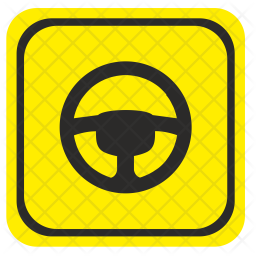 Driver, Wheel, Attention, Road, Care, Warning Icon