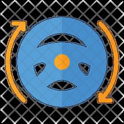 Driverless Flat Icon