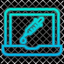 Dropper Laptop Icon