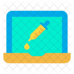 Dropper Laptop Icon